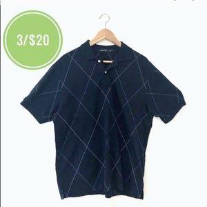 3/$20 Nautica Polo Short Sleeve Navy Blue Shirt
